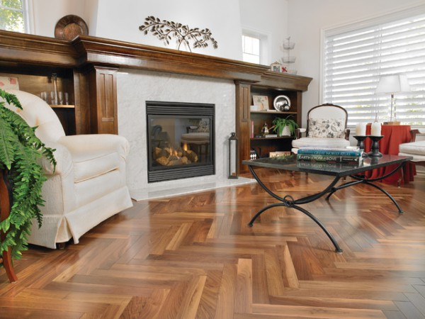 Mirage Hardwood American Walnut Natural Herringbone