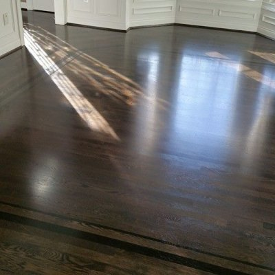 Sand and Finish Ebony Stain